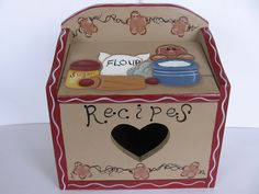 HP Gingerbread Recipe Holder ~ Box #CraftsFromTheHeart #TolePainting