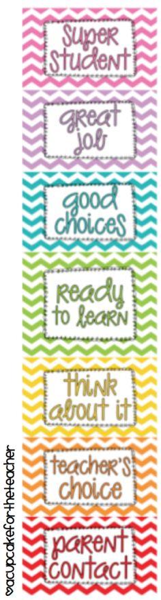 A Cupcake for the Teacher: Clip It! Behavior Chart {freebie}