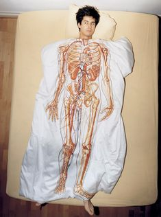 Super cool duvet cover with anatomy.
