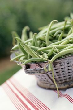 #CookingTip: Pick a handful of healthy green veggies and toss them into your pasta salads. It's easy since they can cook right along with the pasta. Add them to the pasta pot during the last minute or two of cooking. Drain and cool with the pasta for that just-right, tender-crisp texture.