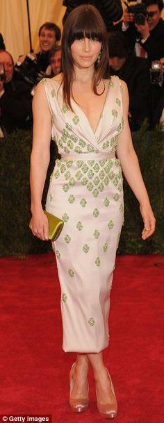 Jessica Biel in Prada (Getty Images)
