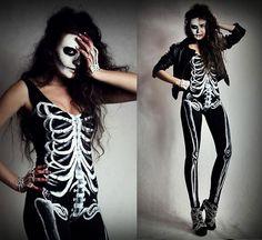 Skeleton Catsuit from 20 Best, Scary Yet Amazing Halloween Costumes 2012 For Teen Girls & Women   Girlshue