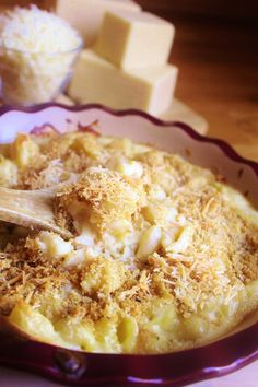White Cheddar and Parmesan Macaroni and Cheese
