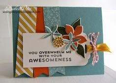 awesom card, ink spot, flower patch