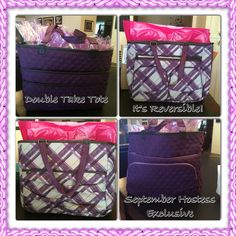 Hostess Exclusive for September 2014. Submit an order over$200, purchase a Double Take Tote for $31 www.mythirtyone.com/ajbagsgalore/