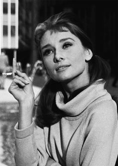 "Audrey: ""My mother taught me to stand straight, sit erect, use discipline with wine and sweets and to smoke only six cigarettes a day."""