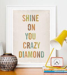 Positive Quote print  Typography poster art  Lyrics Print by handz, $20.00