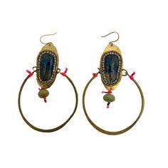 De Petra signature drop earrings