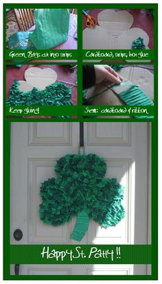 Recycled Lucky Door Decoration