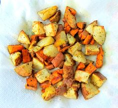 Allergy Free Roasted Potato Chunks | 5DollarDinners.com #holidaysidedish
