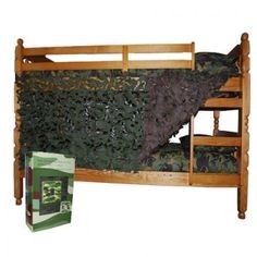 Decorating Idea for Trace's Camoflauge bedroom. Thinking of using net for window treatments. #camobedding