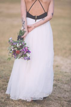 low back gown, photo by Treehouse Photography http://ruffledblog.com/poetry-inspired-wedding-shoot #weddingdress #details