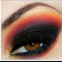 Hunger games inspired eyes...