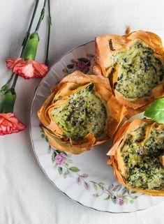 Zucchini-Pesto Mini Quiches in Phyllo Cups