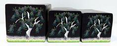 "Tree cane #22 "" Moonlit Banksia"" by Wendy Jorre de St Jorre."