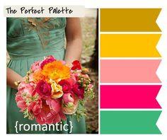 6 Palette Inspiring Wedding Bouquets! http://www.theperfectpalette.com/2012/01/6-palette-inspiring-wedding-bouquets.html