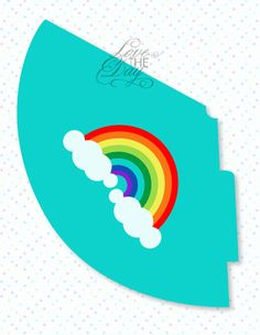 Rainbow Party PRINTABLE Birthday Hat by Love The Day by lovetheday, $8.00