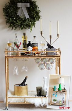 The Social Diary: How to Style a Chic Holiday Bar Cart - Society Social