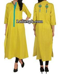 ego clothing pakistan yellow kurta kurtis eid collection 2013 Eid Kurta Collection 2013 For Girls, Women Kurtis Fashion
