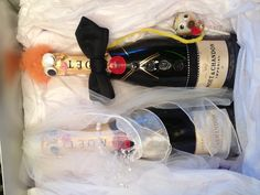 Engagement gift - decorate champagne bottles