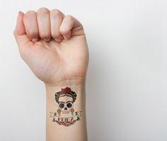 Selfie - temporary tattoo $5   #tattoo #tattoos #temporarytattoo #tattify #ink #temporarytattoos #skull #fridakahlo #frida