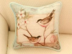 Dollhouse miniature cushion