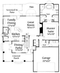 Houseplans.com Craftsman Main Floor Plan Plan #38-1900