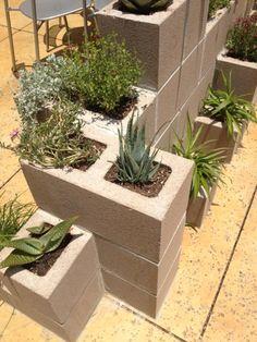 Cinder Block Garden Planters