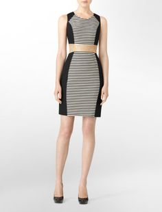 CK dress - love the stripping in the middle, slims the body.