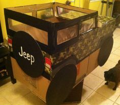 card board jeep desi