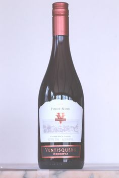 Ventisquero Pinot Noir 2009  From the cool-climate Casablanca Valley, this is a clear and fresh pinot noir. Juicy and red, the fruit lingers. Ceviche anyone? $13