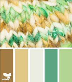 Color Palette for Jewelry and Friendship Bracelets Inspiration (Five) #Neon #Green #Cream #White #Yellow #Brown #Turquoise #Mint #Tan