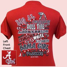 alabama star, tide roll, alabama girl, crimson tide, alabama crimson, short sleev, alabama obsess, roll tide, shirt
