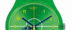 Swatch pone color al Mundial El reloj Entusiasmo es una edición especial Brasil 2014 con 31 hebillas que llevan la bandera de todos los equipos.