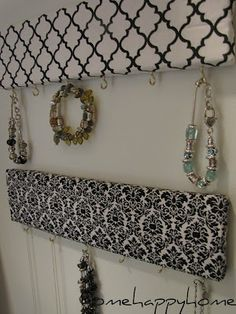 jewelry holder - fabric wrapped boards