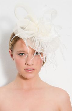 Cara Accessories 'I Heart Flower' Fascinator Headband. this could be fabulous!
