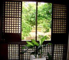 Capiz windows, only in the Philippines #design #Philippines