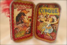 Cirque Altoid Tin - Scrapbook.com - Cover the outside and inside of an old Altoid tin to create this stunning project.
