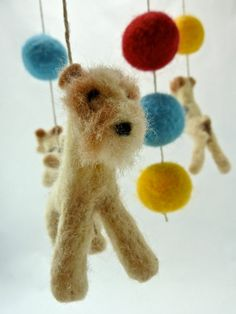 Omg! Dancing Foxies!   Wire Fox Terrier Mobile by sheepcreeknc on Etsy