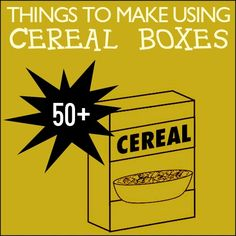 reusing cereal boxes