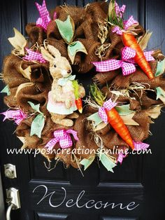 Ready to ship Deco Mesh Wreath Burlap Wreath by poshcreationsKY, $110.00