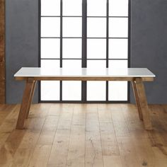 Riviera Rectangular White Top Dining Table  | Crate and Barrel