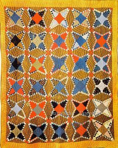 Pieced Quilt Feathered World Without End 1900 Pennsylvania ...~♥~