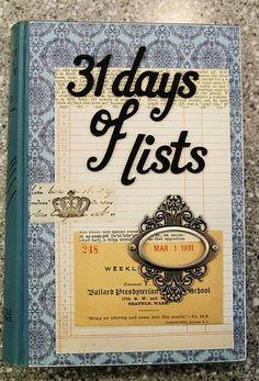 @Cass Jordan...a journal of lists.