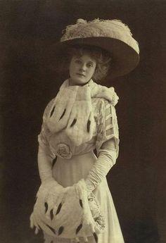 edwardian vintag, fashion, vintage birthday, vintag photograph, actress, wizard of oz, billi burk, billie burke, hat