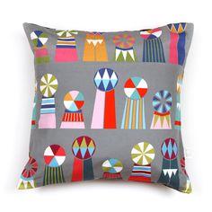 Cushion Cover - Tivolivat Ferris Grey by Swiden Design