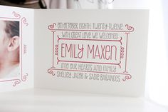 Whimsical Typography Birth Announcements
