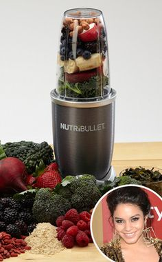 Vanessa Hudgens creates quick, healthy beverages with the help of the NutriBullet, a sleek blender that emulsifies and extracts important nutrients into a delicious smoothie.