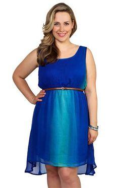 Deb Shops plus size #ombre #dress