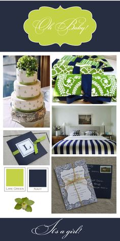 Navy and Green ~ FRESH LINEN: New Year, New Parties: